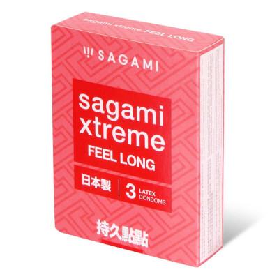 Утолщенные презервативы Sagami Xtreme Feel Long с точками - 3 шт.